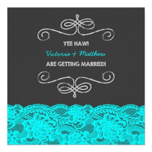 fun redneck vintage chalkboard wedding personalized invites With funny redneck wedding invitations
