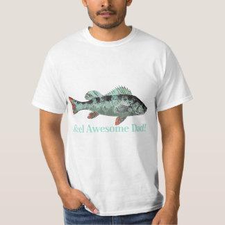 Fun Reel Awesome Dad Fishing Perch T-Shirt