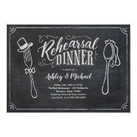 Fun Rehearsal Dinner Invitations - Chalkboard