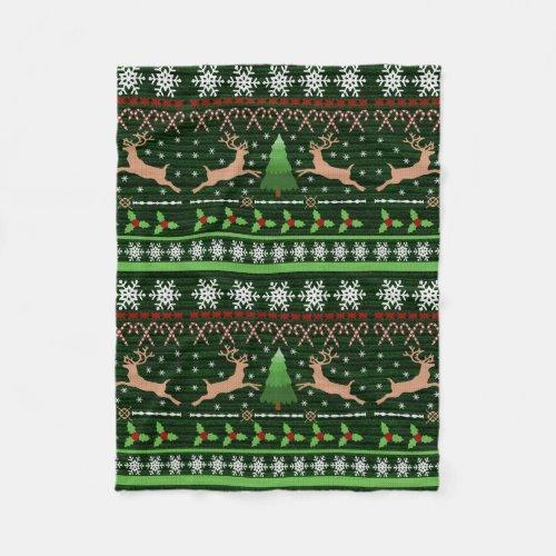 Fun Reindeer Christmas Blanket