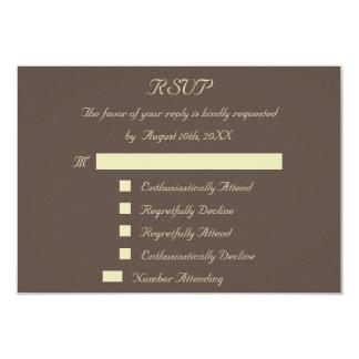 Fun Reply Response Custom Wedding RSVP Invitation