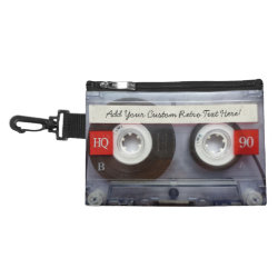 Fun Retro Cassette Tape Accessory Bag
