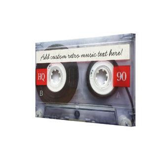 Fun Retro Cassette Tape Canvas Print