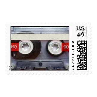 Fun Retro Cassette Tape Postage Stamp