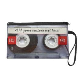 Fun Retro Cassette Tape Wristlet Purse