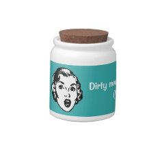 Fun Retro Curse Money Jar Candy Jar at Zazzle