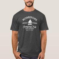 Fun Retro Family Reunion Camping Trip Campfire T-Shirt