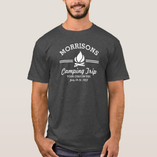 Fun Retro Family Reunion Camping Trip Campfire T-Shirt