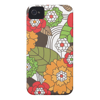 Fun retro floral pattern blackberry case
