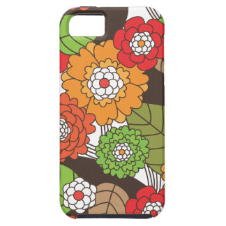 Fun retro floral pattern iphone case iPhone 5 cover