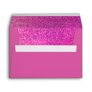 Fun Retro Glittery Hot Pink w/ Gems Envelope