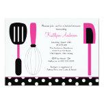 Fun Retro Kitchen Bridal Shower Invitation Pink