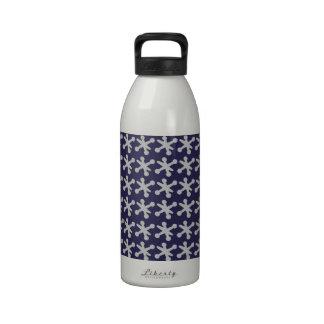 Fun Retro Modern Jacks Pattern Water Bottles