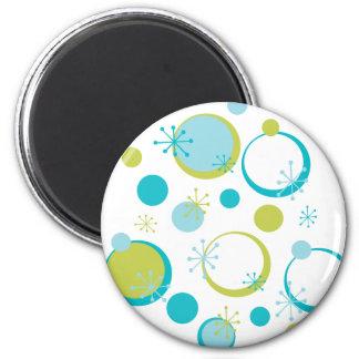 Fun Retro Pattern 2 Inch Round Magnet