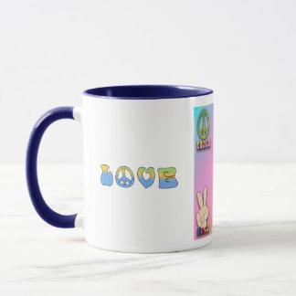 Fun! Retro Peace/Love/Groovy Coffee Cup Mug
