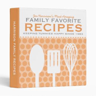 Fun Retro Style Recipes Personalized Binder