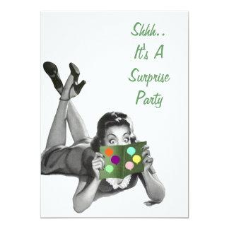 Fun Retro Surprise Party Announcements Invitations