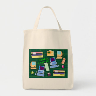Fun Retro Tech Tote Bag