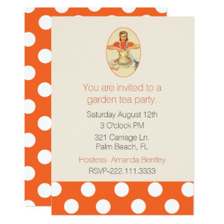Fun Retro Woman Cooking Party Invitation