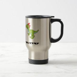 fun rex dino travel mug