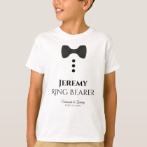 Fun Ring Bearer Black Tie Wedding T-shirt