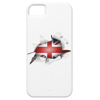 Fun Ripped Hole With Union jack Flag iPhone 5 Cover