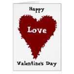 Fun romantic red heart Valentine's day card