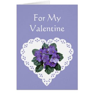 Fun Romantic Violet Flower Valentine Humor Card