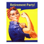 Fun Rosie The Riveter Retirement Party Invitations