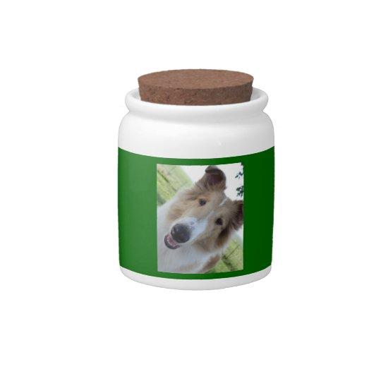 Fun Rough Collie Cookie Jar Candy Dish