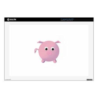 """Fun Round Pig 17"""" Laptop Skins"""