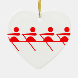 Fun Rowing club Ceramic Ornament