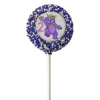 Fun Royal Princess Bear 2nd Birthday Party Chocolate Covered Oreo Pop