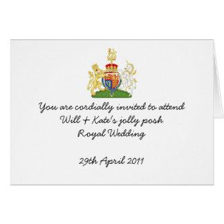 Fun Royal Wedding party invites Cards
