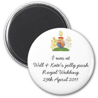 Fun Royal Wedding souvenir magnet