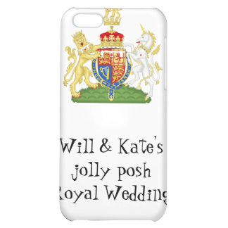 Fun Royal Wedding souvenir - Prince William & Kate iPhone 5C Cases