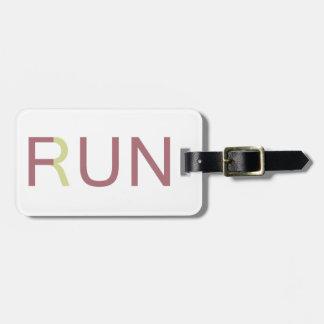 Fun Run Luggage Tag