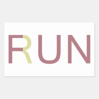 Fun Run Rectangular Sticker