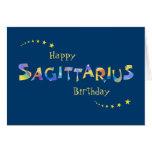 Fun SAGITTARIUS Zodiac Sign Birthday Greeting Greeting Card