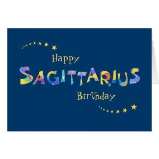 Fun SAGITTARIUS Zodiac Sign Birthday Greeting Card