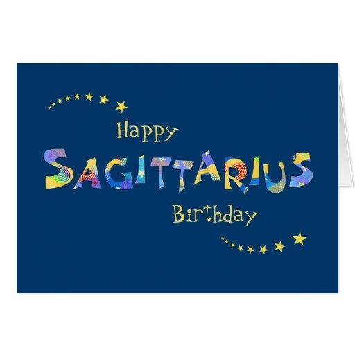 Fun SAGITTARIUS Zodiac Sign Birthday Greeting Greeting