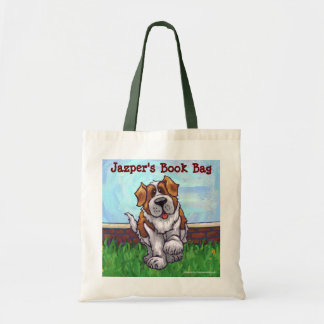 Fun Saint Bernard Dog Personal Book Bag
