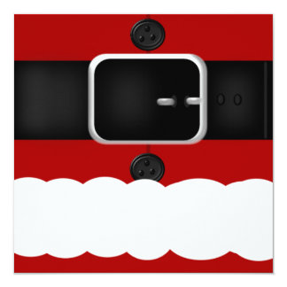 Fun Santa Claus Suit Christmas Party Invitations