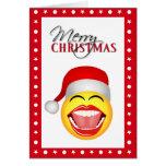Fun Santa Smiley Funny Christmas Cards Cards