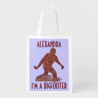 Fun Sasquatch Cryptid I'm A Bigfooter Personalized Market Tote