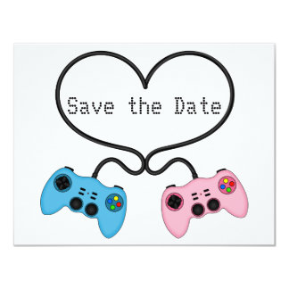 Fun Save the Date for Video Game Players Card