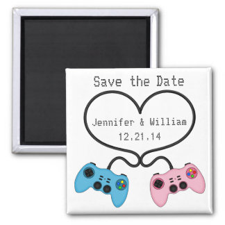 Fun Save the Date Magnet for Video Game Players
