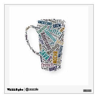 Fun Sayings Quote - Coffee, Java, … … Wall Sticker