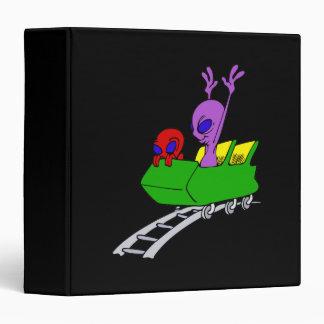 Fun & Scared Alien on Coaster Binder