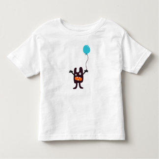Fun scary monster with balloon boy's t-shirt